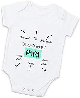 Body bébé personnalisé - Mode d'emploi pour les papas - Cadeau original futur papa
