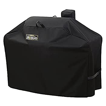 Jiesuo Pellet Grill Cover for Camp Chef DLX 24 SmokePro 24 PG24 SG24 Woodwind Pellet Grills Heavy Duty Waterproof Outdoor Barbeque Grill Accessories
