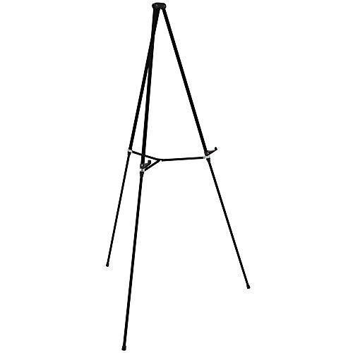 """Quartet Easel, Aluminum, Lightweight, Telescoping, 66"""" Max. Height, Supports 25 lbs, Black (51E)"""