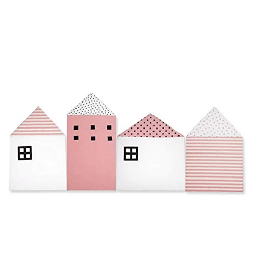 Aolvo Bettumrandung für Babybett, atmungsaktiv, schützt vor Zusammenstößen, 100 % Baumwolle, Hausform, Bettschutz für das Kinderzimmer rose