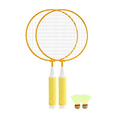 Sgualie 1 par de raquetas de bádminton + 2 piezas juego de bádminton de juguete de fitness al aire libre