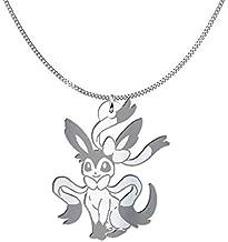 Collana Sylveon Pokémon, Sterling Silver o placcato oro 18K, gioiello regalo amicizia, migliori amici