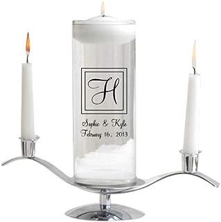 Personalized Floating Wedding Unity Candle Set - Includes Stand - Personalized Wedding Candle Set - Monogrammed Floating Wedding Unity Candle Set - Elegant