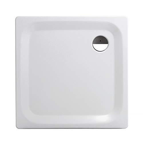 Calmwaters® - Essential Soft - Eckige Bodengleiche Dusche in 90 x 90 x 2,5 cm aus Stahl-Emaille mit 90 mm Abfluss - 01XP2225
