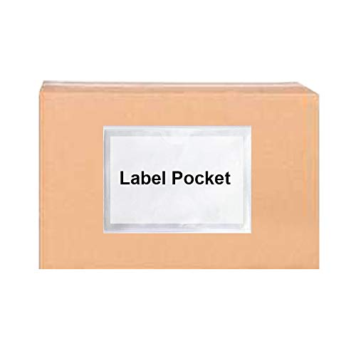 """100-Pack Self-Adhesive Label Holder Press-On Sleeves Index Card Pockets for Label Parking Permit Business Card-Horizontal-2.09"""" x 1.5"""" Photo #4"""