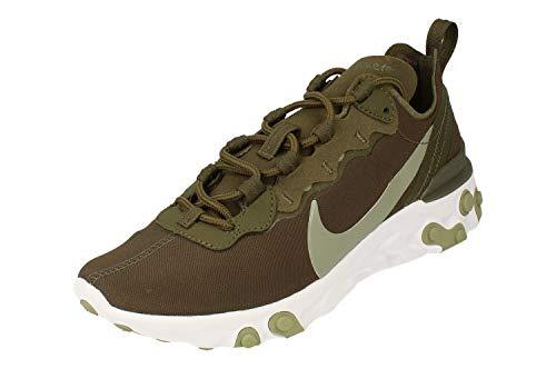 Nike W React Element 55 - Zapatillas de running para mujer, Mujer, BQ2728-302, verde militar - marrón - blanco, 38