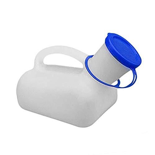 Inodoro portátil de emergencia, inodoro masculino para viajes, camping, plástico portátil (urinario) con mango, 1000 ml, para hombres