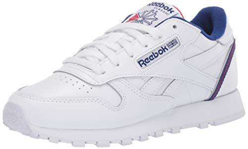 Reebok Men's Classic Leather Sneaker, white/cobalt/vector Red,9.5 M US