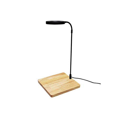 Luz LED de acuario de 10 W, luz LED de espectro completo con tablero de bambú, luz nano pecera, agua salada, luz de tanque de peces de agua dulce para coral, plantas en maceta, suculentas