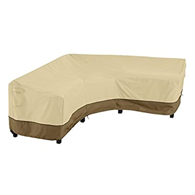 Classic Accessories Veranda Waterproof Patio V-Shaped Sectional Sofa Cover, Heavy Duty Patio Furniture Lounge Set Cover…