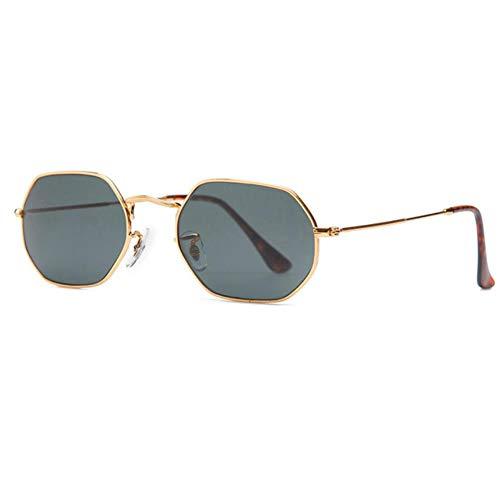 NZMAOZI Gafas De Sol Polarizadas Hombre Gafas De Sol De La Lente del Espejo Clásico De Las Mujeres Octogonales 53 Mm Hombres Gafas De Sol Escudo