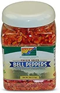 Mother Earth Products Freeze Dried Red Bell Peppers, Net Wt 4oz (113g)