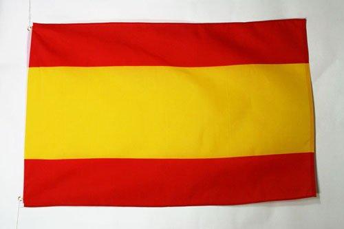 AZ FLAG Bandera de ESPAÑA SIN Armas 150x90cm - Bandera ESPAÑOLA SIN Escudo 90 x 150 cm