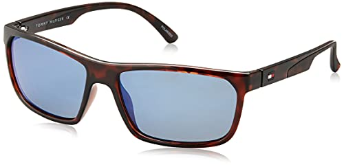 Tommy Hilfiger Men Rectangular Eyewear Brown Frame Blue Lens X-Large