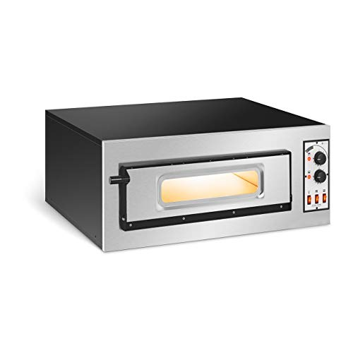 Royal Catering Forno Elettrico Professionale Per Pizza Forno Per Pizzeria RC-POB150GL (1 camera, Ø 45 cm)