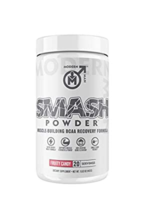 Modern Man BCAA Powder - Muscle Building Post Workout Recovery Supplement with Essential and Branched Chain Amino Acids, Train Longer, Recover Faster, Grow Bigger - with PeakO2, Amino9, and Carb10