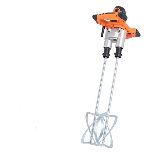 1800W Power Concrete Mixers Portable Electric Mortar Mixer Handheld Stirring Tool Dual Paddle High Low Gear 2 Speed Paint Cement Grout-mixing Concrete Cement Grout Paint Plaster