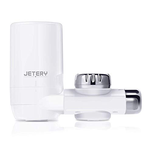 JETERY Faucet Water Filter - 320-Gallon Long-Lasting Tap Water Filtration System with Carbon Fiber Filter for Home Kitchen, Fits Standard Faucets, JT-5110 Faucet Water Filter