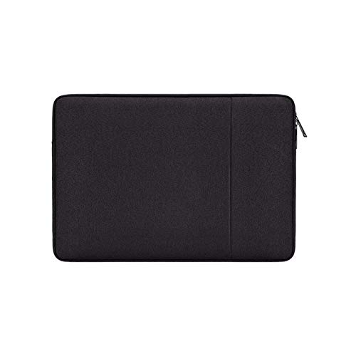 YNLRY Waterproof Laptop Sleeve 13.3 14 15 15.6 16 Inches Bag for MacBook Air Pro Ratina Dell HP Notebook Case 13 Inch Cover Women Men (Color : Black, Size : 15 inch)