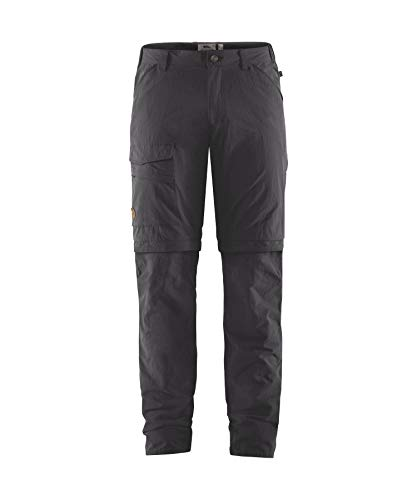 Fjallraven Herren Travellers MT Zip-Off TRS M Sport Trousers, Dark Grey, 48