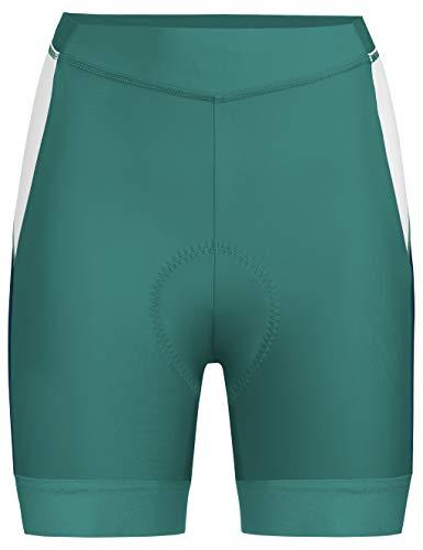 VAUDE Advanced Shorts III Radhose mit funktionellem Sitzpolster Bas Femme, Nickel Green, Taille 40