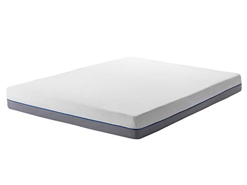 Beliani EU Super King Size Firm Mattress 6ft White Grey Foam Filling Polyester Cover Glee