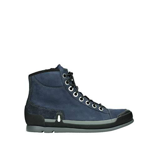 Wolky Comfort Schnürschuhe Watson - 13800 blau Nubukleder - 36