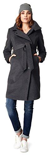 Noppies Damen Jacket Ilena 2 Umstandsmantel, Schwarz (Black Melange C277), 36 (Herstellergröße: S)