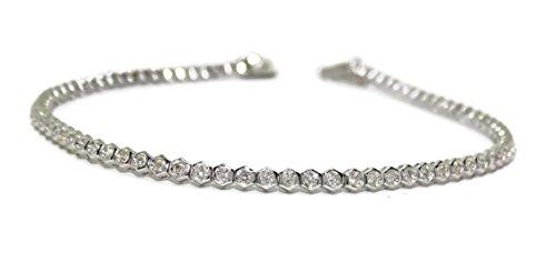 Never Say Never Impresionante Pulsera de 1.03cts de Diamantes en Oro Blanco de 18k de 20cm con Cierre de Seguridad. para la Mujer más Impresionante.