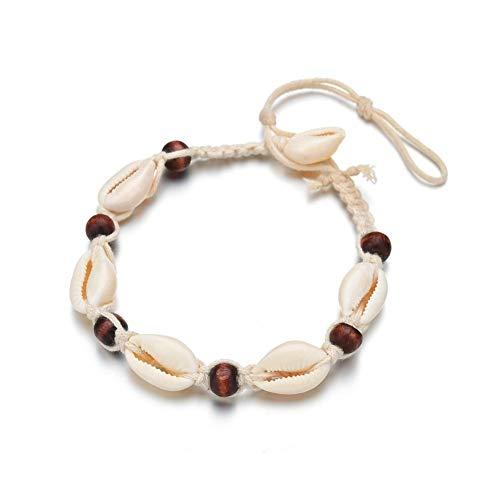 Enkelband Enkel Armbanden Voor Vrouwen Verstelbare Enkelbanden Titanium Staal Enkelband Sandal Enkelband Shell Enkelband Natuurlijk Enkelbanden