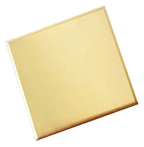 ZKDY Placa de latón Hoja de latón Percisión Metales de latón Hoja de Metal 150x150mm / 6x6inch, 1 PCS Hoja de Cobre Puro (Size : 1.5mm/0.06inch)