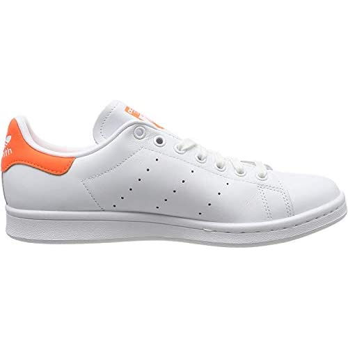 adidas Stan Smith W, Scarpe da Ginnastica Donna, Bianco (Ftwr White/Solar Orange/Ftwr White Ftwr White/Solar Orange/Ftwr White), 36 EU