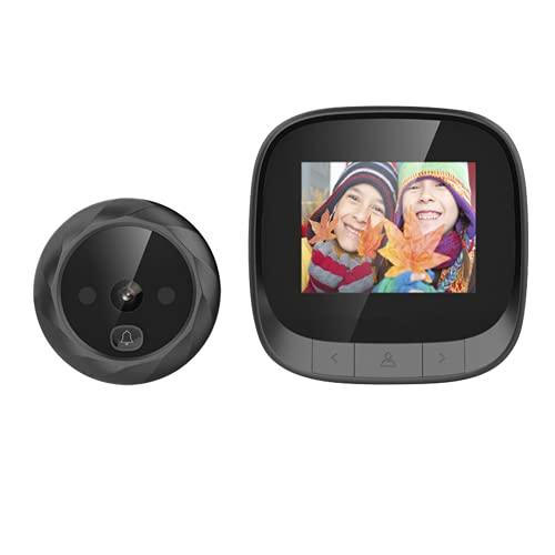 Visor de puerta digital, anillo del timbre, botón táctil, visión nocturna, compatibilidad automáticamente en instantáneas/grabación mini cámaras espía oculta wifi