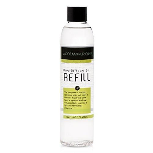 Acqua Aroma Bamboo Reed Diffuser Oil Refill 6.8 FL OZ (200ml)