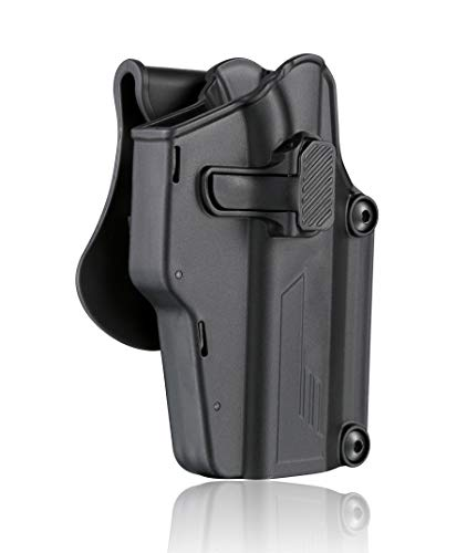 Multi-Fit Gun Holster Fits 80+ Pistols, OWB Tactical Holster for Glock/Sig Sauer/CZ/Ruger/Springfield/Beretta/S&W M&P/1911/Taurus/HK, 360° Adjustable, Universal Open Carry Holster - Right Handed