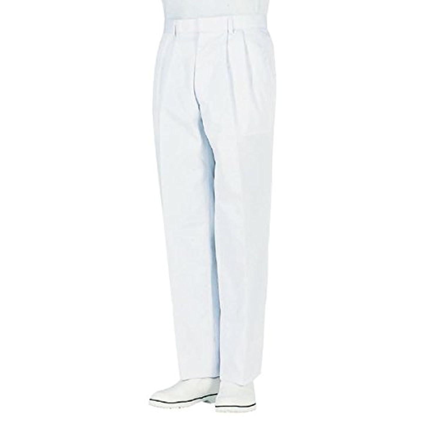 オンスガイドに頼るworkfriend 男子ツータック白パンツ SKH433 ウエスト88cm