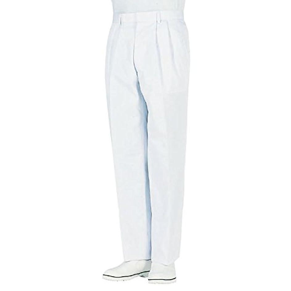 ビュッフェポジション焦げworkfriend 男子ツータック白パンツ SKH433 ウエスト105cm