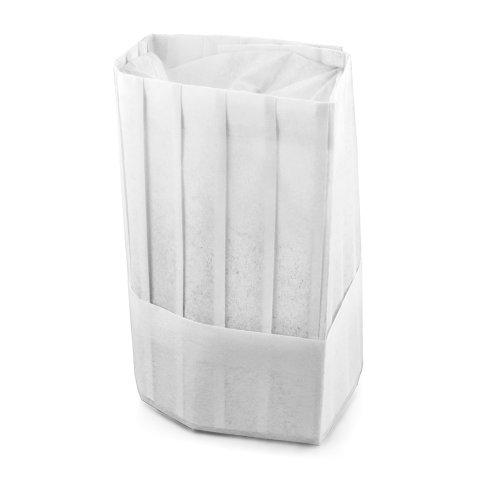 New Star Foodservice 32208 Disposable Non Woven Flat Chef Hat, 9-Inch, Set of 10 White