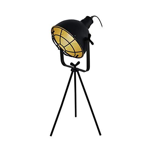 Eglo 49673 Lampe de Table, Acier, 60 W, Noir/Doré