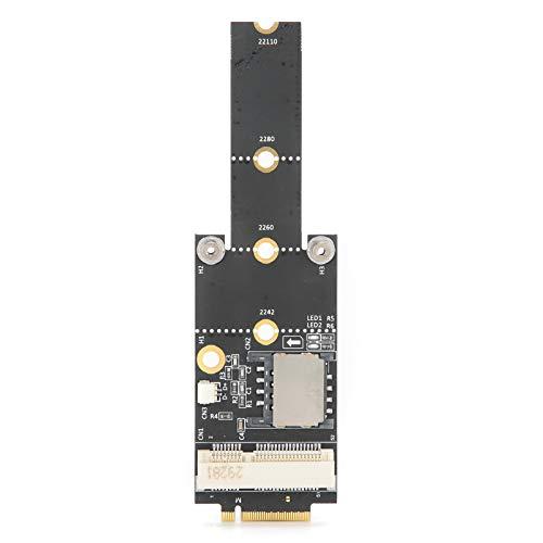 Shipenophy Carte Adaptateur de câble USB de convertisseur de réseau PCI-E vers NGFF Pièce de Connexion 3G / 4G / WiFi pour Ordinateur de Bureau