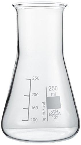 neoLab E-1069 Erlenmeyer-Kolben Weithals, 250 mL Simax (10-er Pack)