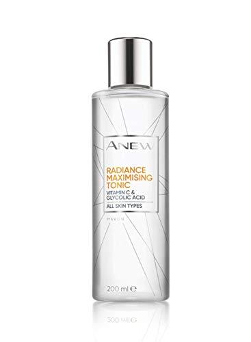 Avon Anew Radiance Tónico con vitamina C y ácido glicólico, 200 ml