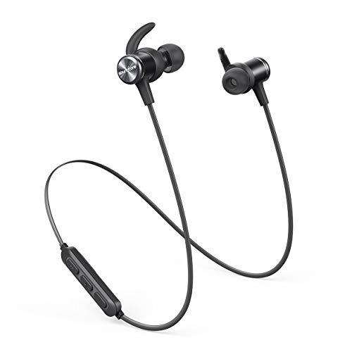 Soundcore Spirit Kabellose Bluetooth Kopfhörer, 8 Stunden Akkulaufzeit, SweatGuard Technologie, Federleichtes Design und bequemer Halt, für Sport und Workout (Generalüberholt)