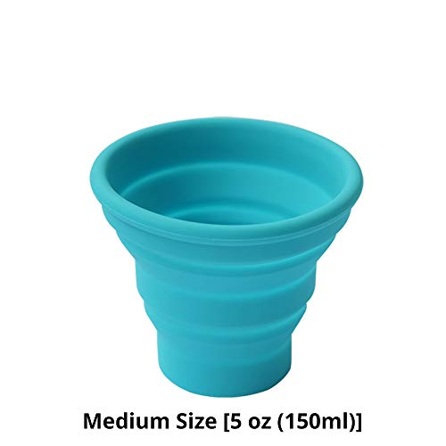 Ecoart Silicone Collapsible Travel Cup for Outdoor Camping and Hiking (1 Pack) (Blue)