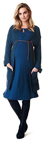 Noppies Damen Cardigan ls Kimono Umstandsstrickjacke, Blau (Dark Blue C165), 38 (Herstellergröße: M)