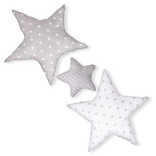 Dekokissen kinderzimmer Kissen Stern - Plüschkissen für Kinder zierkissen, Mädchen und Junge
