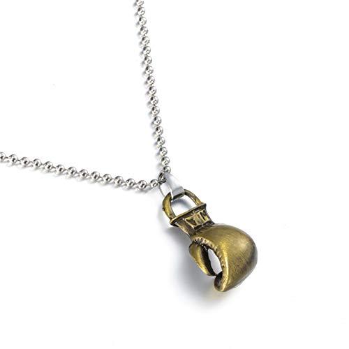 VBNMG Herenhalsketting, zilver en goud, mini bokshandschoenen, hanger, halsketting, mannen en vrouwen, modieus, sportaccessoires