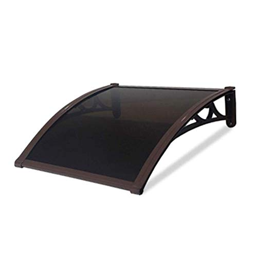 Patio Porch Awning Shelter Door Canopy Awning Shelter, Protects From Sun, Rain, Sleet Or Snow Arched Self-cleaning Canopy For Door And Window (Color : Brown, Size : 60x100cm)