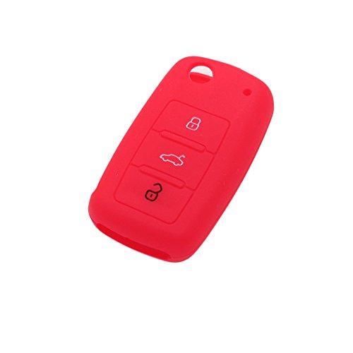 Fassport Funda de 3 botones para llave de coche Volkswagen, Seat, Skoda