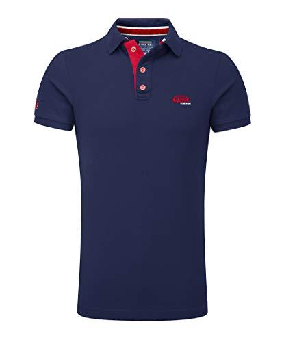 M.Conte Herren Poloshirt Basic Men's Kurzarm Polohemd T-Shirt Polo-Shirt Pique- Gr. XXL, Dunkel-Blau
